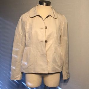 J. Crew Maisey Pleated Waterproof Faille Trench